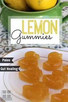 Homemade Lemon Gummy Bears Recipe - 1/3 cup fresh squeezed lemon juice 3 Tbsp grass fed gelatin  2 Tbsp raw honey  looks yummy and so cute
