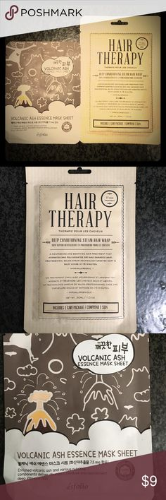 Hair Therapy 💗 Volcanic Ash Mask Duo 💓 Deep Conditioning Steam Hair Wrap! 15min Treatment that HYDRATES & REJUVENATES dry damaged tresses! Combined with the Volcanic Ash Mask that delivers extreme moisture and increases skin elasticity! This duo will have your hair and skin feeling refreshed! Urban Outfitters Other
