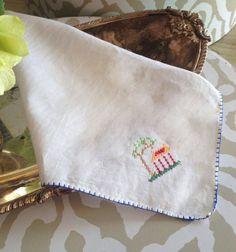 1950's Vintage Handkerchief Vintage Hankies by TastefulTikes, $7.00