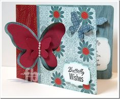 Frances Byrne's lovely Pop 'n Cuts Butterfly Window card. Also uses the companion Bigz Butterflies & Labels plus the Edge & Scroll. SizzixPopNCut-Butterfly2-wm