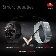 Huawei Smart Watch, TalkBand B2, and TalkBand N1 @MWC Barcelona 2015