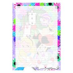 Alice in Wonderland Printable Letter Paper Lined - Love of Post Printable Lined Paper, Printable Letters, Digital Form, Digital Collage, Home Printers, A5, Alice In Wonderland, Stationary, Empire