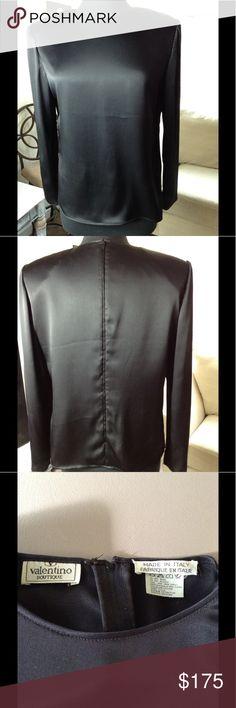 410020b9801114 Valentino Boutique Vintage blouse Valentino Boutique Vintage black silk  blouse. Valentino Tops Blouses Valentino Boutique