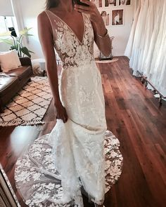 "180 Likes, 6 Comments - Made with Love Bridal (@madewithlovebridal) on Instagram: ""STEVIE in ivory """