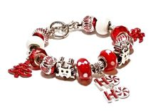 Rudolph the Red-Nosed Reindeer European Style Bracelet - RU1000