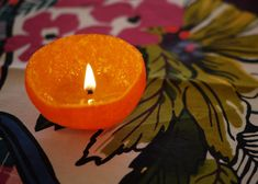 DIY Candle Centerpieces Made of Citrus Fruits, Simple Table Decorating Ideas