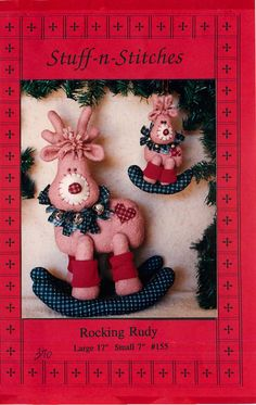 """Sewing Pattern for """"Rocking Rudy"""" by Stuff-n-Stitches for a Holiday Reindeer by CarlasHope on Etsy"""