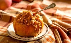 Baked Apples with Caramel and Sweet Streusel Crumble by TasteBook