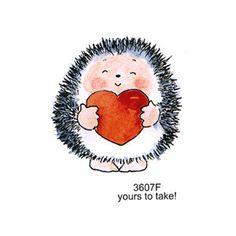 Happystampers Penny Black Rubber Stamps Hedgehog StampsYou can find Penny black and more on our website. Hedgehog Craft, Cute Hedgehog, Animal Drawings, Cute Drawings, Penny Black Cards, Bullet Journal Art, Art Graphique, Rock Crafts, Whimsical Art