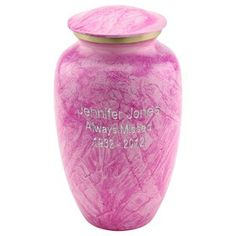 Bright Pink Cremation Urn | Affordable Urns for Ashes www.stardust-memorials.com