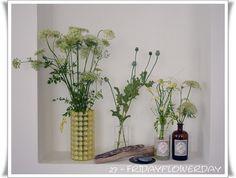 """Glaslampenschirm als """"Vase"""" schöne Wildblumen!"""