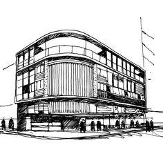 Arte y Arquitectura: Croquis por Fabricio Contreras Ansbergs,Atelieres Calle Paraguay. Antoni Bonet. Buenos Aires, Argentina. © Fabricio Contreras Ansbergs http://www.archdaily.mx/mx/02-219719/arte-y-arquitectura-croquis-por-fabricio-contreras-ansbergs/07-atelieres