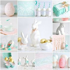 Stylish pastel Easter decor. Love it!