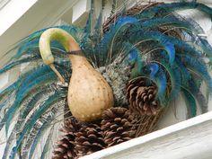 Bird like?  Maybe....Christmas Wreaths of Colonial Williamsburg