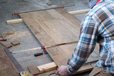 DIY Single Sliding Barn Door - SUGAR MAPLE notes Sliding Door Window Treatments, Sliding Door Hardware, Diy Barn Door, Sliding Barn Door Hardware, Sliding Doors, Rustic Hardware, Front Doors, Indoor Barn Doors, Patio Doors