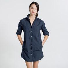 The Long-Sleeve Shirt Dress - Everlane