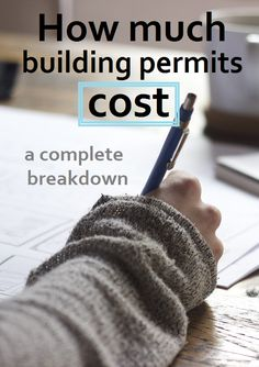How much do building permits really cost? This breakdown is very thorough, what…