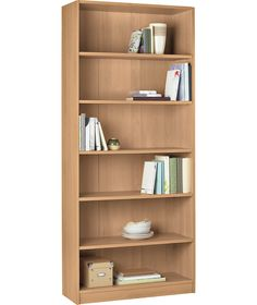 Maine Tall And Wide Extra Deep Bookcase Beech Effect At Argos Co