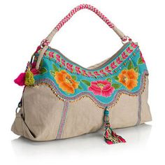 Campeche Floral Tassel Shoulder Bag