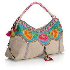 Campeche Floral Tassel Shoulder Bag