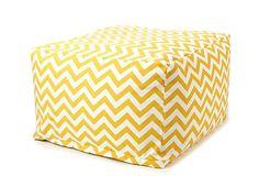 Zigzag Outdoor Ottoman, Yellow on OneKingsLane.com... For bedroom sitting area