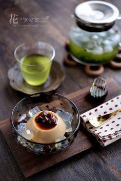 ほうじ茶ぷりーん - Japanese tea HoujiCha Pudding.