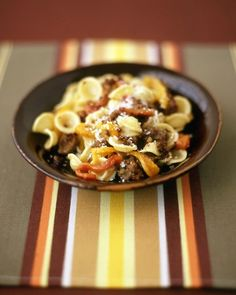 Orecchiette with Sausage and Roasted Peppers - Martha Stewart