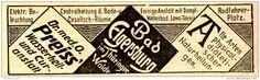 Original-Werbung/ Anzeige 1898 - BAD ELGERSBURG - ca. 90 X 25 mm