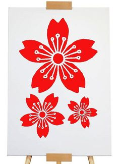 Stencil 3 flowers A4 size by artistamps1 on Etsy