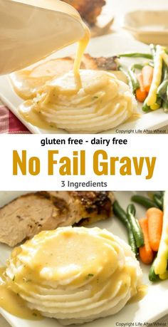An easy, no fail gravy mix that's gluten free and dairy free! So creamy and flav… An easy, no fail gravy mix that's gluten free and dairy free! So creamy and flavorful that no one will ever guess it's gluten free, plus it's ready in 5 minutes flat! Lactose Free Recipes, Dairy Free Diet, Gluten Free Cooking, Healthy Recipes, Gluten Dairy Free, Gluten Free Soups, Diet Recipes, Dairy Free Sauces, Allergy Free Recipes
