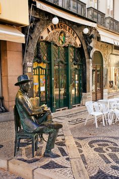 Print of Historic Pastelaria A Brasileira, Baixa District, Lisbon, Portugal Visit Portugal, Spain And Portugal, Portugal Travel, Non Plus Ultra, Budapest, Le Palais, City Landscape, Azores, Travel Images