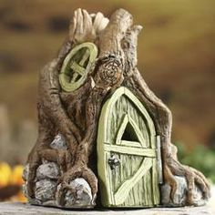 Miniature Tree Root Fairy Garden House - Fairy Garden Miniatures - Dollhouse Miniatures - Doll Making Supplies - Craft Supplies