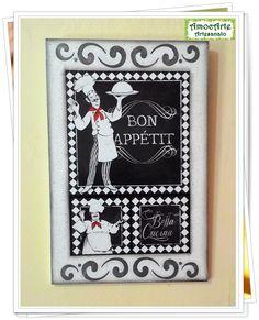 """Quadro decorativo """"Bon appétit"""" """"Bella Cucina"""" http://amocarte.blogspot.com.br/"""