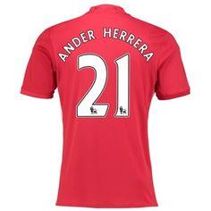 Manchester United 16-17 #Ander Herrera 21 Hjemmebanesæt Kort ærmer,208,58KR,shirtshopservice@gmail.com