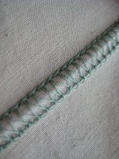 Flatlock stitching tutorial for the serger