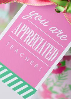 teacher appreciation free printable tags