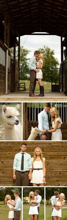 white dress, cute boots - love shoot on an alpaca farm