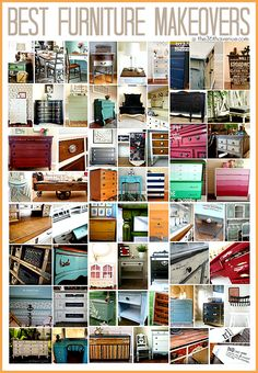 60 DIY Furniture Makeovers …You'll find here the best of the best! 60 DIY Furniture Makeovers …You'll find here the best of the best! Old Furniture, Refurbished Furniture, Repurposed Furniture, Furniture Projects, Paint Furniture, Furniture Makeover, Modern Furniture, Rustic Furniture, Furniture Movers