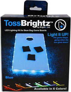 Brightz, Ltd. White Toss Brightz LED Lights Cornhole Board Accessory