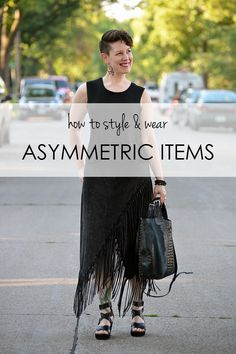 How to style and wear asymmetric clothes and accessories