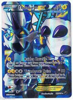Pokemon Card Plasma Freeze FULL ART Rare Holo Thundurus EX 110/116 FREE COMB S