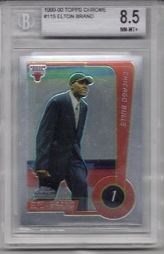 1999-00 Topps Chrome #115 Elton Brand Rookie Basketball Card Beckett Graded 8.5NM-MT+ . $24.99. Graded Elton Brand Rookie Card, 8.5.NM-MT+. Graded by Beckett. In clear protective case.