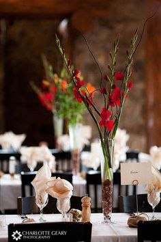 Pretty centerpieces only shorter and add  lights in water