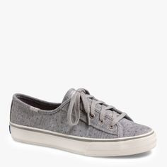 Keds Women's Double Up Sneaker In Grey Sparkle featured in vente-privee.com