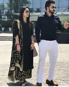Best 11 Very Cute Punjabi Couple Indian Fashion Dresses, Pakistani Fashion Casual, Dress Indian Style, Pakistani Dress Design, Pakistani Dresses, Asian Fashion, Latest Fashion, Latest Punjabi Suits Design, Designer Punjabi Suits
