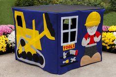 Felt Card Table Playhouse Construction Site door missprettypretty