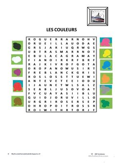 One-click print document Nouns And Adjectives, French Worksheets, French Colors, Core French, French Classroom, French Resources, French Language Learning, Teaching French, Printable Worksheets