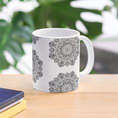 """Black Mandala Pattern - Just Let Go"" Mug by klyngiant   Redbubble Mandala Pattern, Mandala Art, Letting Go, Finding Yourself, Let It Be, Mugs, Create, Tableware, Artist"