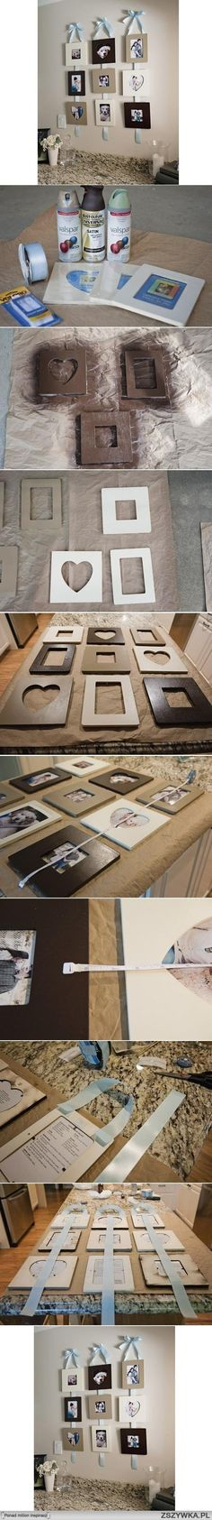 diy, stylish, wall, photo, frame, picture