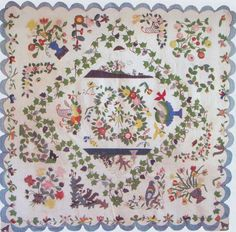 Medallion Album Quilt, c 1850. Made by Mary Jane Carr. Columbia, Pennsylvania.